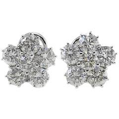 Luise  Retro Diamond Gold Flower Earrings