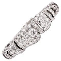 1960s Stunning Diamond Platinum Impressive Bracelet