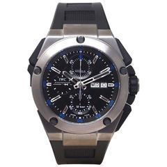 IWC Titanium Ingenieur Double Chronograph Rattrapante Automatic Wristwatch