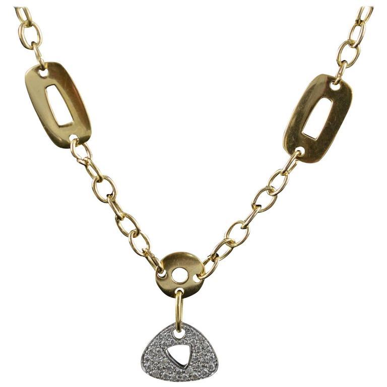 Mattioli Diamond Pave Gold Necklace
