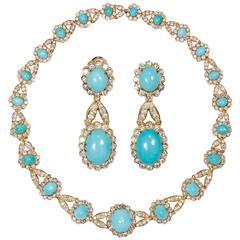 Iconic Van Cleef & Arpels Turquoise Diamond Set