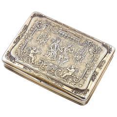 Renaissance Style German Silver Gilt Snuff Box