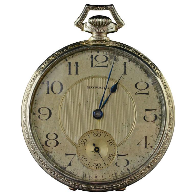 1928 Knights of Columbus La Rubida Gold Howard Pocket Watch