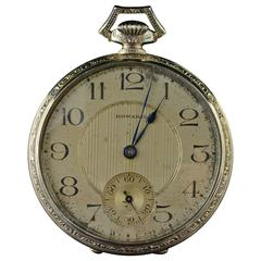 1928 Knights of Columbus La Rubida Gold Howard Pocket Watch
