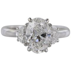 2.01 Carat G/SI2 GIA Oval Diamond Ring