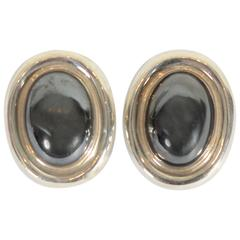 Paloma Picasso Hematite Silver Earrings