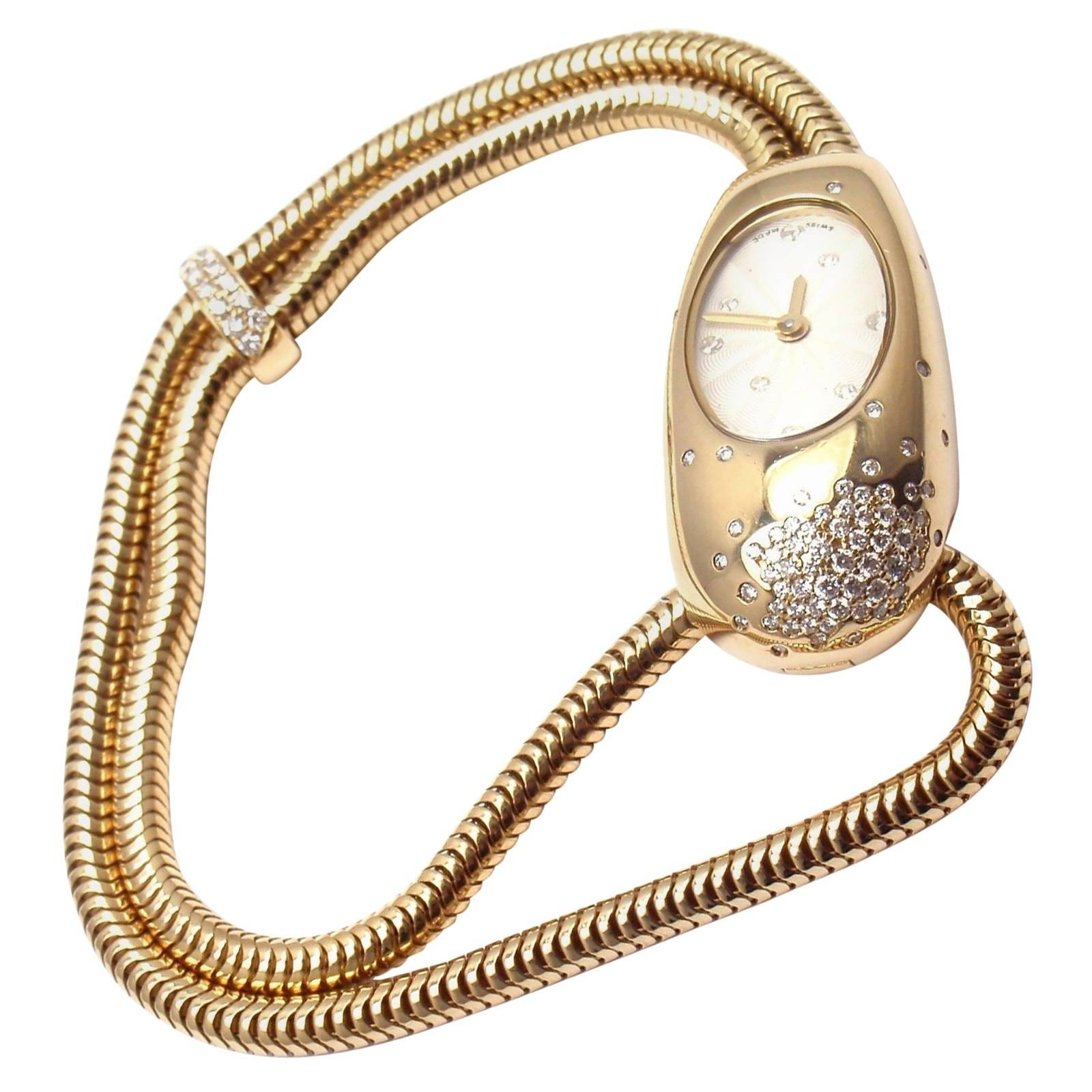Van Cleef & Arpels Ladies Yellow Gold Diamond Cadenas Serti Quartz Wristwatch