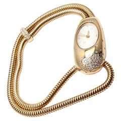 Van Cleef & Arpels Ladies Yellow Gold Diamond Cadenas Serti Quartz Wristwatch
