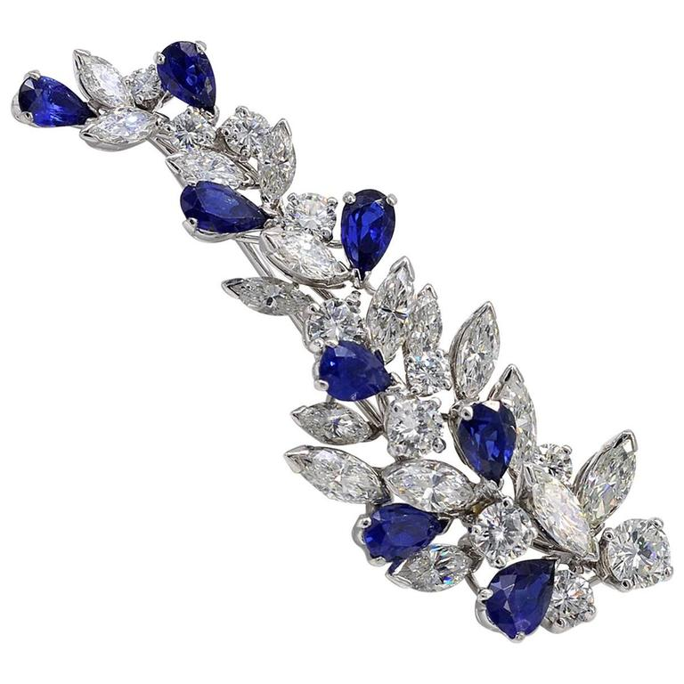 brooch blue estate shop sapphire set jewelers brooches house of invisible kahn