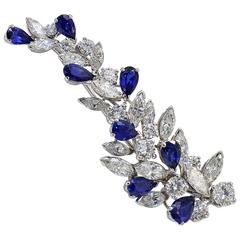 Missiaglia Diamond and Sapphire  Brooch