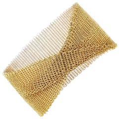 Tiffany & Co. Gold Mesh Bracelet