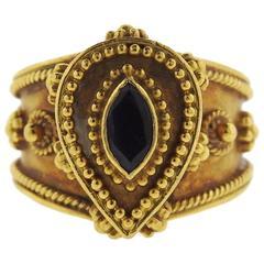 Zolotas Greece Sapphire Gold Ring