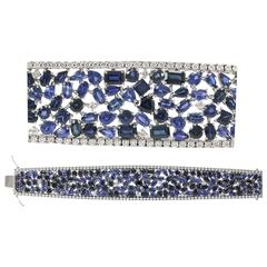 Mixed Shaped Sapphire Diamond Bracelet
