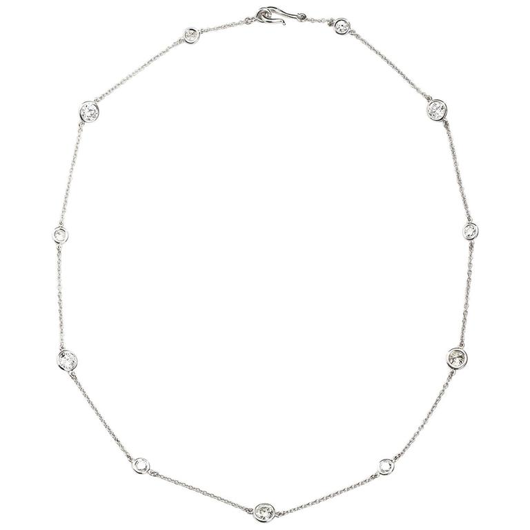 4.80 Carat Diamond by the Yard Necklace