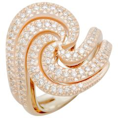 H. Stern Iris Diamond Ring 0.76 Carats 18k Noble and 18k Rose Gold New