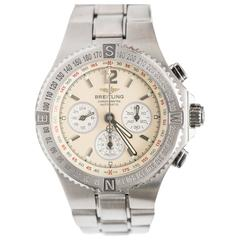 Breitling Stainless Steel Hercules Chronograph Automatic Wristwatch Ref A39363