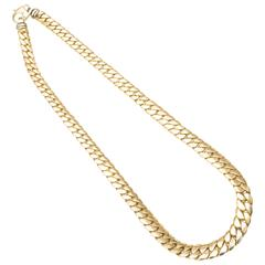 1980s Italian Gold Graduated Cuban Link Chain