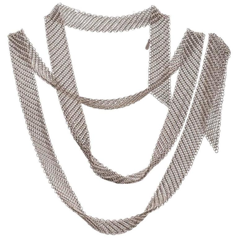 Tiffany & Co. Elsa Peretti Collection Mesh Tie Scarf Necklace