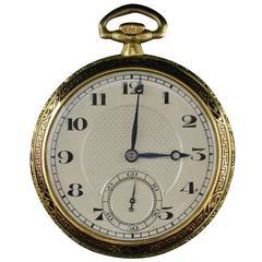 Vacheron & Constantin Yellow Gold Black Enamel Pocket Watch and Watch Chain