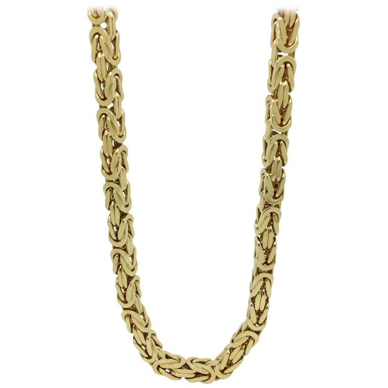 Yellow Gold Link Chain Necklace