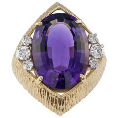 Amethyst Diamond Cocktail Ring