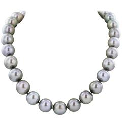 13-17 mm 36 Inch Tahitian Grey Pearl Necklace