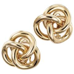 1960s Gold Knot Ear Clips