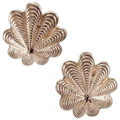 Pink Gold Shell Earrings