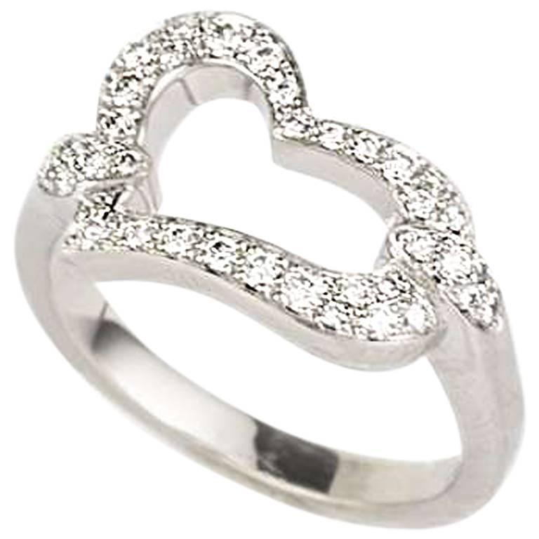Piaget Diamond Set Heart Ring For Sale at 1stdibs