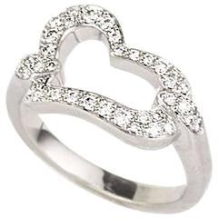 Piaget Diamond Set Heart Ring