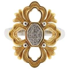 Buccellati Opera Diamond Gold Ring
