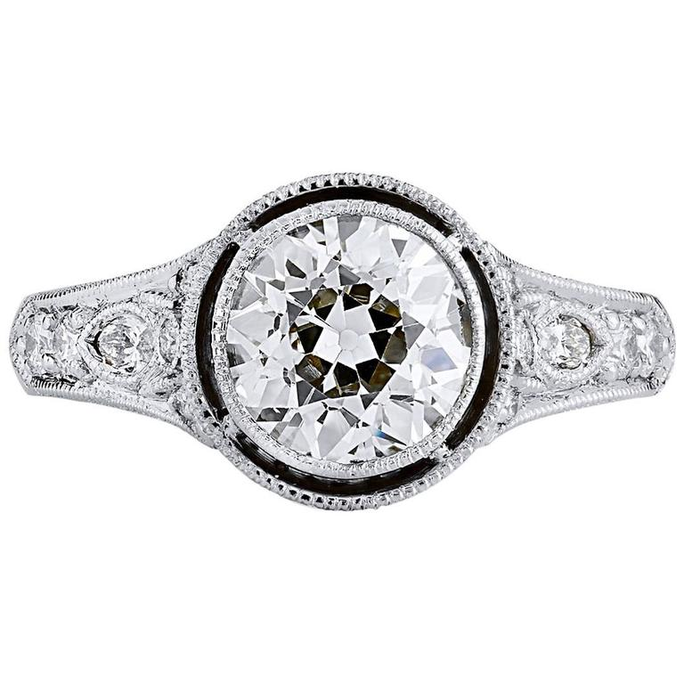 1.76 carat Diamond Platinum Engagement Ring
