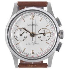 Eberhard & Co. Stainless Steel Contograf Chronograph Wristwatch