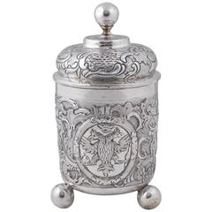 18th Century Russian Silver Beaker and Cover
