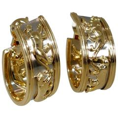 Cartier Gold Panthere Earrings