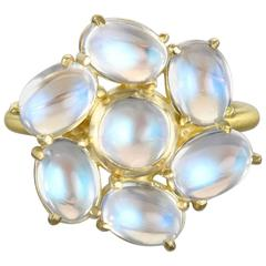 Faye Kim Daisy Moonstone Gold Statement Ring