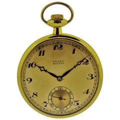 Gruen Watch Company Yellow Gold Pocket Watch
