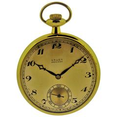 Gruen Watch Company Yellow Gold Pocket Watch