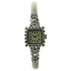 Movado Watch Company Ladies Platinum Diamond Dress Watch
