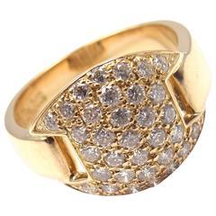 Hermes Diamond Gold Band Ring