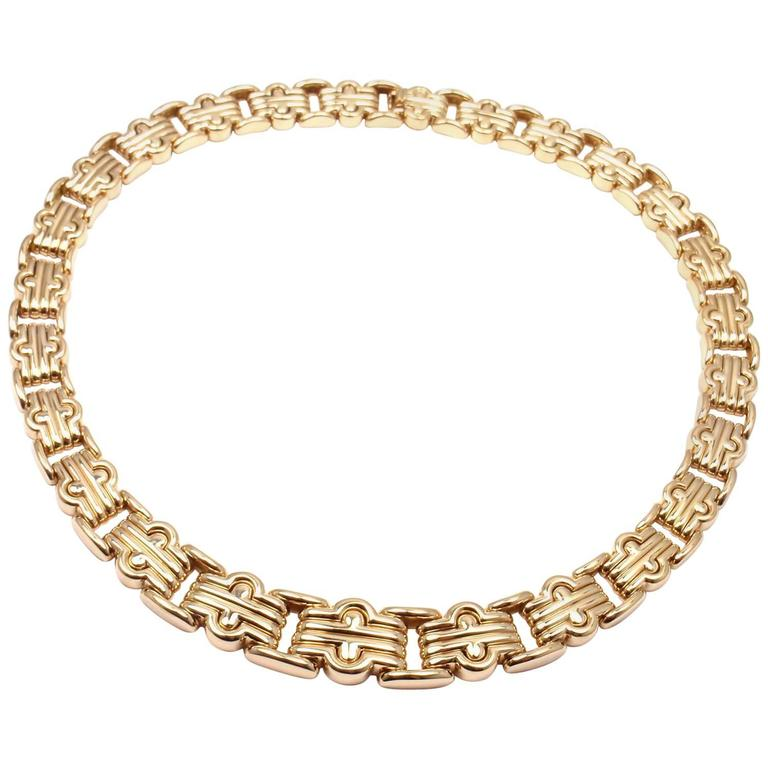 Bulgari Gold Link Necklace
