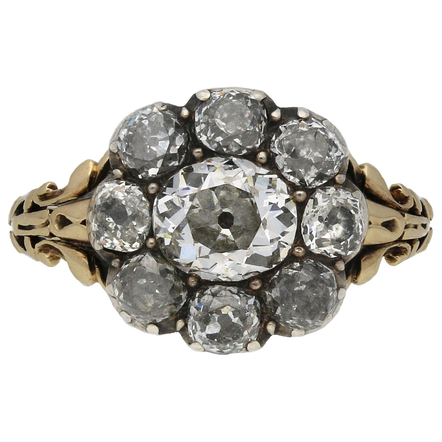 Georgian Diamond Cluster Ring, circa 1830