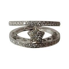 Gioielmoda Pasquale Bruni Diamond Gold Ring with Star Centre