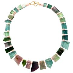 Ionescu Design Tourmaline Gold Necklace