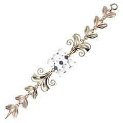 Tiffany & Co. Montana Sapphire Moonstone Gold Bracelet