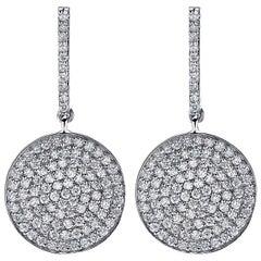 2.00 Carat Diamonds Gold Earrings
