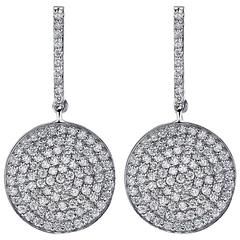 2.00 Carat Diamonds Gold Earrings
