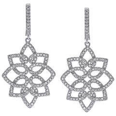 Emilio 1.48 Carats Diamonds Gold Earrings
