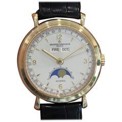 Vacheron Constantin Yellow Gold Triple Calendar Moonphase Automatic Wristwatch