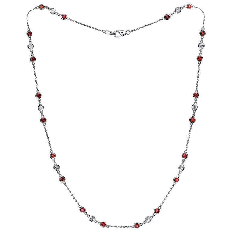 Emilio Ruby Diamond gold Necklace  1
